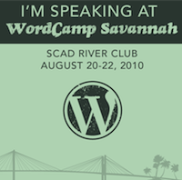 I'm speaking at WordCamp Savannah